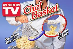 רשת טיגון סל הפלא של השף, הלהיט שגם מטגן, גם מסנן, גם מאדה ועוד! Chef Basket לחיים קלים במטבח! רק ב39 ש