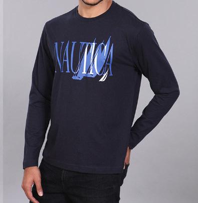 חולצהאיכותית ומקורית של נאוטיקה Nautica עם שרוול ארוך במבחר צבעים ב79 ש