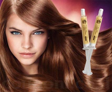 זוג מזרקי קרטין לשיער משקמים ומחליקים עם הנוסחה הייחודית ב65 ש