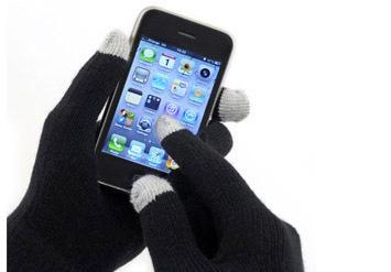 כפפות מגע לחורף עם קצות אצבעות מיוחדות המתאימות למסכי מגע כג...
