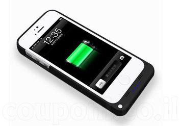 כיסוי מטען /כיסוי סוללה לאייפון5/5S/5C שיכפיל את חיי הסוללה שלכם ויגן על האייפון ב89 ש