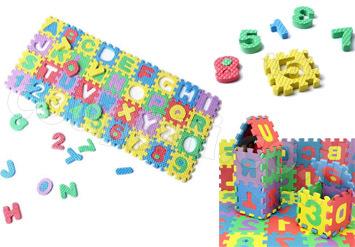 פאזל לגו המורכב מ36 חלקים שהם גם קוביות בנייה צבעוניות עם מס...