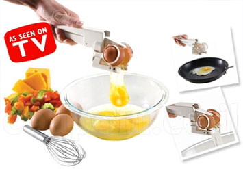 די ללכלוך במטבח! שובר ומפריד ביצים EZCracker! מתאים גם לביצי...