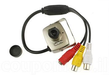 מצלמת אבטחה קטנה לבית או לעסק, כוללת הקלטת קול, ראיית לילה, ...