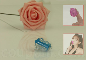אצבעון מסאג'ר / ויברטור בעל רטט עם הלבשה לאצבע, עשוי סיליקון רך ונעים להנאה ועינוג ב25 ש