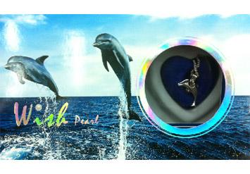 שרשרת דולפין עם פנינה שמגדלים לבד מתוך צדפה אמיתית!!! רק 39 ...