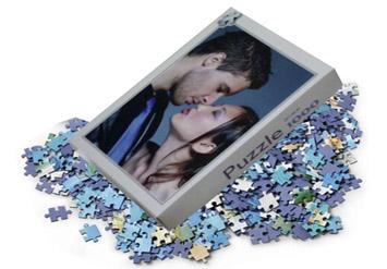 מתנה מדליקה למי שאוהבים, פאזל עם תמונה אישית והקדשה ב29 ש