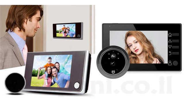 עינית מצלמה לדלת לאבטחה וביטחון לבית או לעסק החל מ149 ש