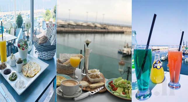 ארוחת בוקר זוגית מול נוף מרהיב של המרינה באשקלון במסעדת לה פרנצ'י הצרפתית הכשרה למהדרין ב89 ש