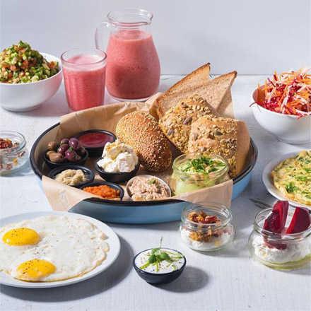 ארוחת בוקר זוגית משודרגת, מפנקת וכשרה בד
