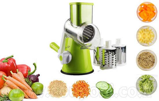 פומפיה אוטומטית רב תכליתית לחיתוך וגירוד מהיר ונוח של ירקות, גבינות, אגוזים, שקדים ועוד! ב119 ש