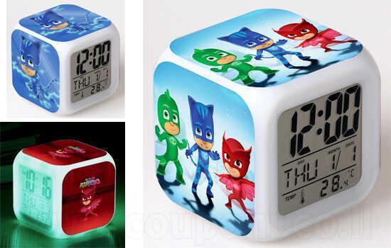 שעון לד של כוח פיג'יי עם תאורה, תאריכון, שעון מעורר ומד טמפרטורה במבחר דגמים! ב69 ש