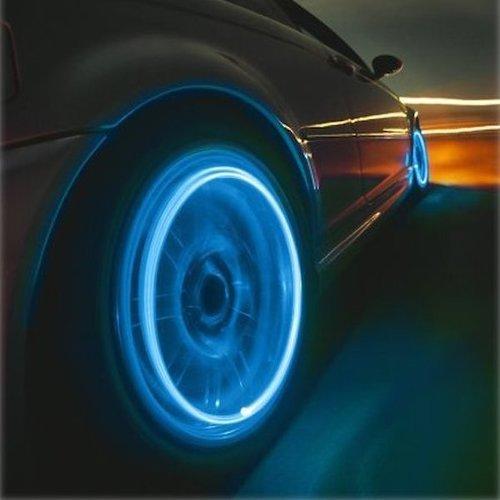 זוג נורות LED לגלגלי האופנוע, הרכב ...