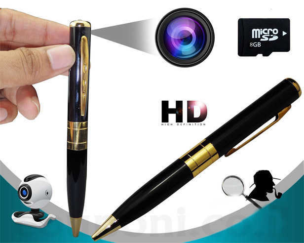 עט מצלמה / ריגול + כרטיס זיכרון לאחסון 8GB ואיכות HD! עט יוקרתי ותמים למראה בעל מצלמה נסתרת ב119 ש