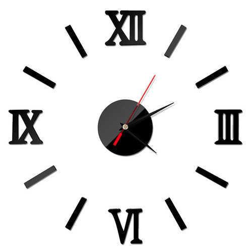 שעון קיר יפה ומעוצב לבית עם ספרות רומיות במבחר צבעים רק ב39 ש