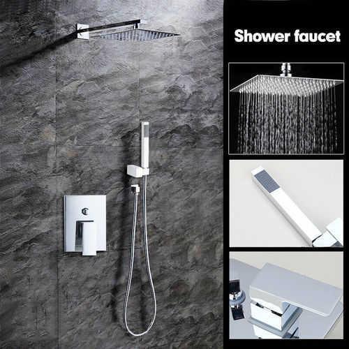 סט סניטרי למקלחון / לאמבטיה הכולל ראש דוש מפל + מזלף ידני + ...