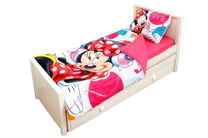 סט מצעים איכותיים ביותר 3 חלקים למיטת יחיד עם דמויות דיסני ה...