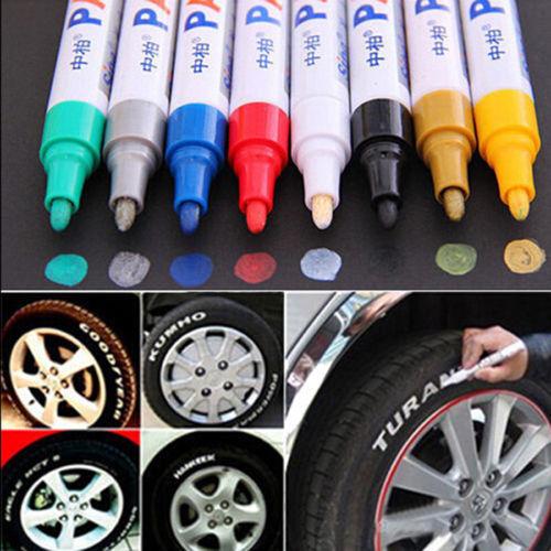 טוש לכיתוב וצביעת צמיגים לרכב או לאופנוע במבחר צבעים! רק ב19 ש