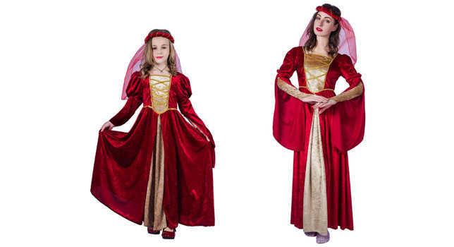 תחפושת נסיכה מימי הביניים לנשים / ילדות ב159 ש