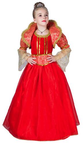 תחפושת מלכה אדומה לילדות ב159 ש