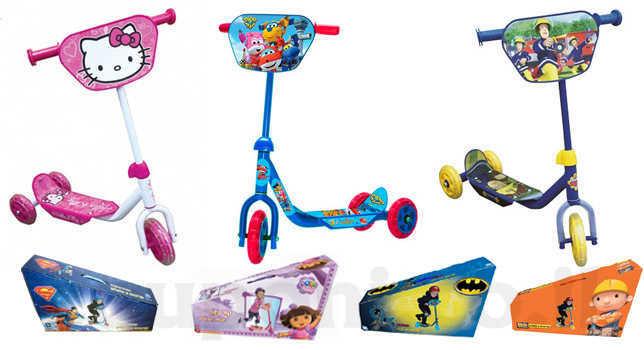 קורקינט לילדים בעל 3 גלגלים במבחר דגמים ודמויות מוכרות ואהובות ב77 ש